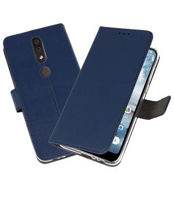 Wallet Cases Hoesje voor Nokia 4.2 Navy
