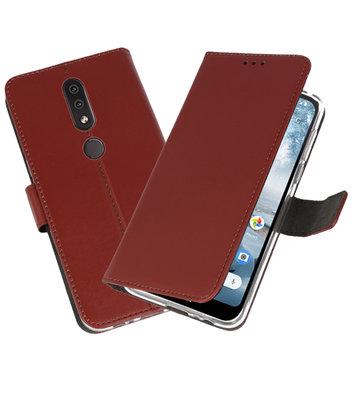 Wallet Cases Hoesje voor Nokia 4.2 Bruin