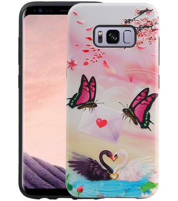 Vlinder Design Hardcase Backcover voor Samsung Galaxy S8
