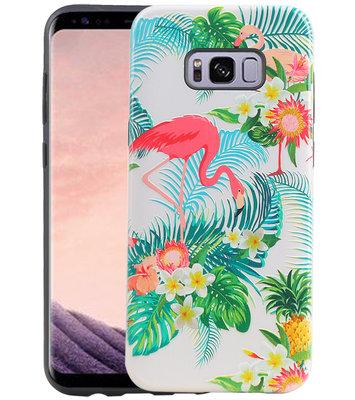 Flamingo Design Hardcase Backcover voor Samsung Galaxy S8 Plus