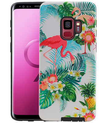 Flamingo Design Hardcase Backcover voor Samsung Galaxy S9
