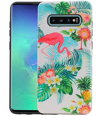 Flamingo Design Hardcase Backcover voor Samsung Galaxy S10