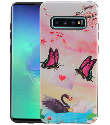 Vlinder Design Hardcase Backcover voor Samsung Galaxy S10 Plus