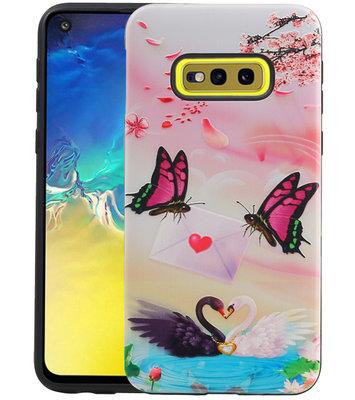 Vlinder Design Hardcase Backcover voor Samsung Galaxy S10e