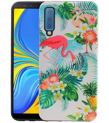 Flamingo Design Hardcase Backcover voor Samsung Galaxy A7 2018