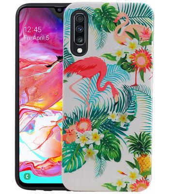 Flamingo Design Hardcase Backcover voor Samsung Galaxy A70