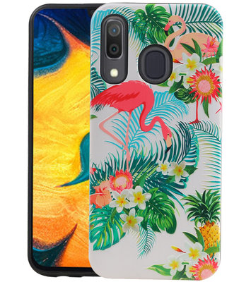 Flamingo Design Hardcase Backcover voor Samsung Galaxy A30