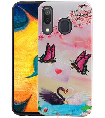 Vlinder Design Hardcase Backcover voor Samsung Galaxy A30