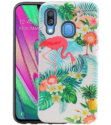 Flamingo Design Hardcase Backcover voor Samsung Galaxy A40