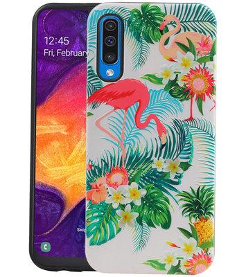 Flamingo Design Hardcase Backcover voor Samsung Galaxy A50