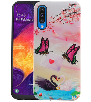 Vlinder Design Hardcase Backcover voor Samsung Galaxy A50
