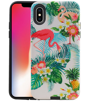 Flamingo Design Hardcase Backcover voor iPhone X / XS