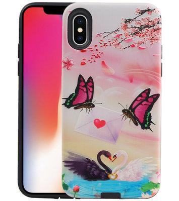 Vlinder Design Hardcase Backcover voor iPhone X / XS