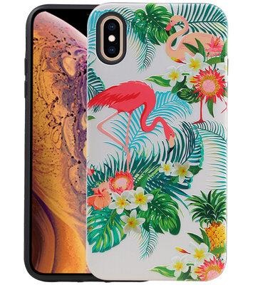 Flamingo Design Hardcase Backcover voor iPhone XS Max