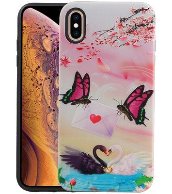 Vlinder Design Hardcase Backcover voor iPhone XS Max
