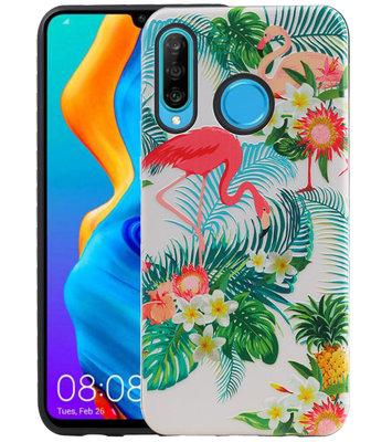 Flamingo Design Hardcase Backcover voor Huawei P30 Lite / Nova 4E