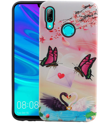 Vlinder Design Hardcase Backcover voor Huawei P Smart 2019