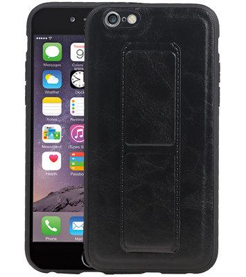 Grip Stand Hardcase Backcover voor iPhone 6 Zwart