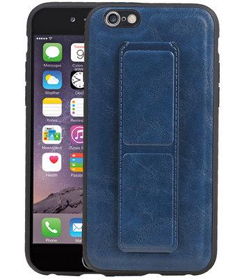 Grip Stand Hardcase Backcover voor iPhone 6 Blauw