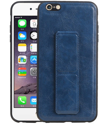 Grip Stand Hardcase Backcover voor iPhone 6 Plus Blauw
