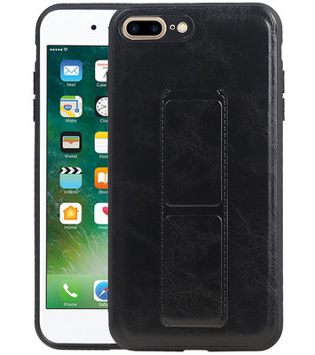 Grip Stand Hardcase Backcover voor iPhone 8 / 7 Plus Zwart