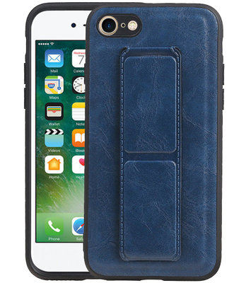 Grip Stand Hardcase Backcover voor iPhone 8 / 7 Blauw