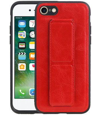 Grip Stand Hardcase Backcover voor iPhone 8 / 7 Rood