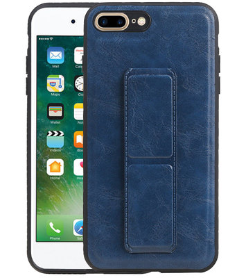 Grip Stand Hardcase Backcover voor iPhone 8 / 7 Plus Blauw