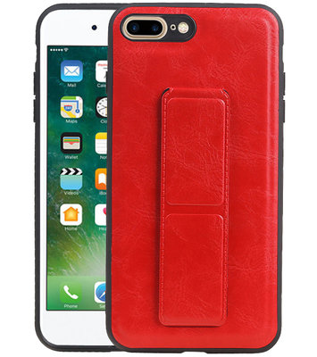 Grip Stand Hardcase Backcover voor iPhone 8 / 7 Plus Rood
