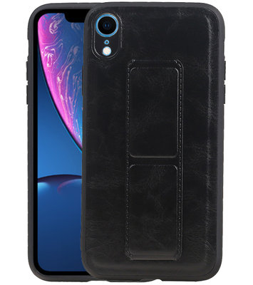 Grip Stand Hardcase Backcover voor iPhone XR Zwart