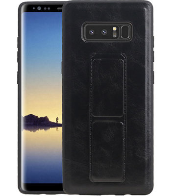 Grip Stand Hardcase Backcover voor Samsung Galaxy Note 8 Zwart