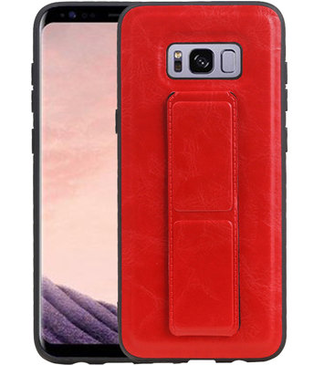Grip Stand Hardcase Backcover voor Samsung Galaxy S8 Plus Rood