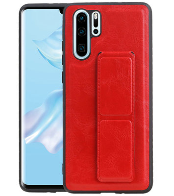 Grip Stand Hardcase Backcover voor Huawei P30 Pro Rood