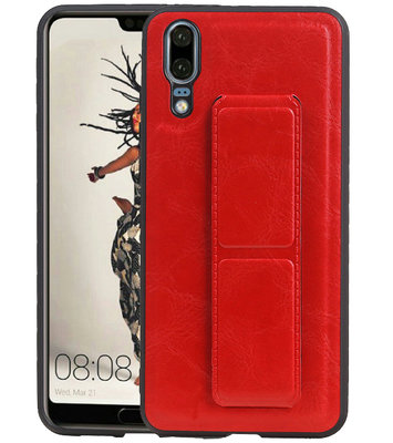 Grip Stand Hardcase Backcover voor Huawei P20 Rood