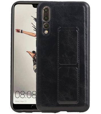 Grip Stand Hardcase Backcover voor Huawei P20 Pro Zwart