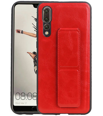 Grip Stand Hardcase Backcover voor Huawei P20 Pro Rood