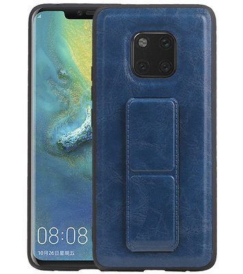 Grip Stand Hardcase Backcover voor Huawei Mate 20 Pro Blauw