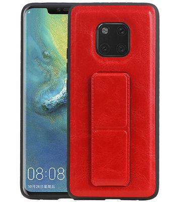 Grip Stand Hardcase Backcover voor Huawei Mate 20 Pro Rood