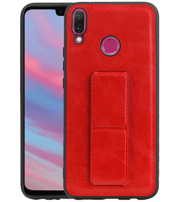 Grip Stand Hardcase Backcover voor Huawei Y9 (2019) Rood