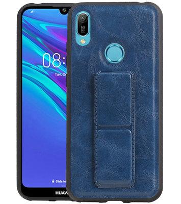 Grip Stand Hardcase Backcover voor Huawei Y6 / Y6 Prime 2019 Blauw