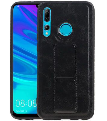 Grip Stand Hardcase Backcover voor Huawei P Smart / P Smart Plus (2019) Zwart