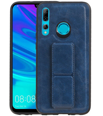 Grip Stand Hardcase Backcover voor Huawei P Smart / P Smart Plus (2019) Blauw