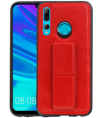 Grip Stand Hardcase Backcover voor Huawei P Smart / P Smart Plus (2019) Rood