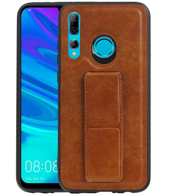 Grip Stand Hardcase Backcover voor Huawei P Smart / P Smart Plus (2019) Bruin