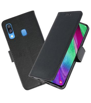 Bookstyle Wallet Cases Hoesje voor Samsung Galaxy A40 Zwart