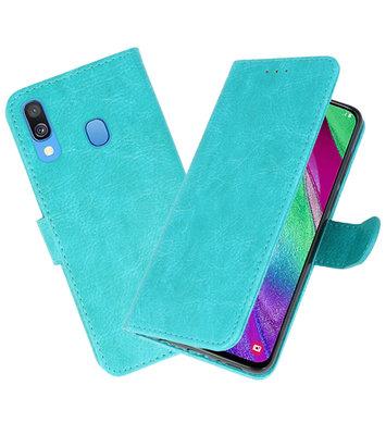 Bookstyle Wallet Cases Hoesje voor Samsung Galaxy A40 Groen