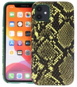 Slang Design Back Cover voor iPhone 11 Donker Groen
