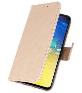 Booktype Wallet Cases voor de Samsung Galaxy A71 Goud