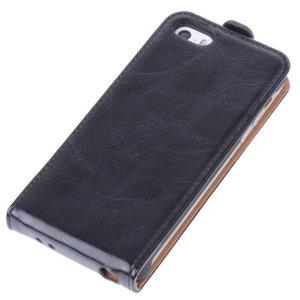 Bestcases Zwart Antiek Flip Case Hoesje Apple iPhone 5 5S