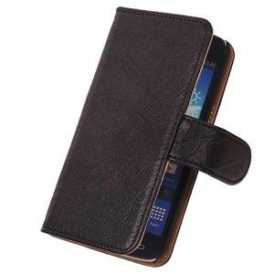BestCases Stand Zwart Luxe Echt Lederen Book Samsung Galaxy Core LTE